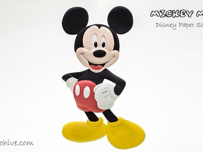 Disney Mickey Mouse Paper Sculpture