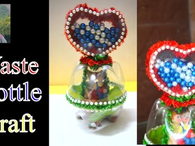 DIY CRAFT # Best Out Of Waste Bottle Showpiece # handmade gift idea # Nidhi jain