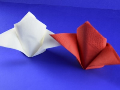DIY Folding napkins of paper for plates Tutorial Table Setting