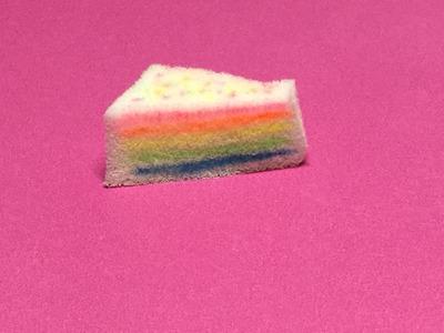 DIY Rainbow Cake Squishy!!! No Foam, Earplugs,or Paint!