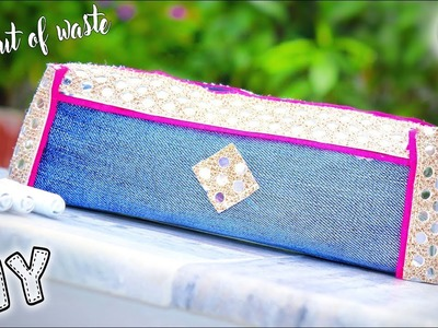DIY School Supplies | how to reuse old jeans into Pencil Case | Best out of waste | Artkala 230