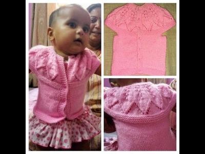 Easy Babygirl Sweater Design(0-3 months)part-2|Hindi