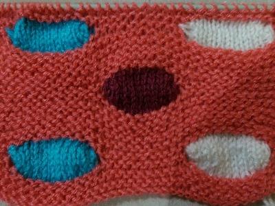Egg shape knit design pattern in Hindi | Andakar Sweater ki Bunai for 10-15 years boy or girl