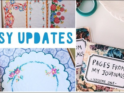 Etsy Shop Updates   Digitals, Zine and Vintage Linens Printables