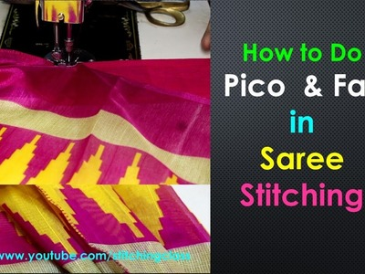 Fall and Pico Stitching || How to do Pico in Saree || How to do Fall in Saree  ||Fall Pico ||