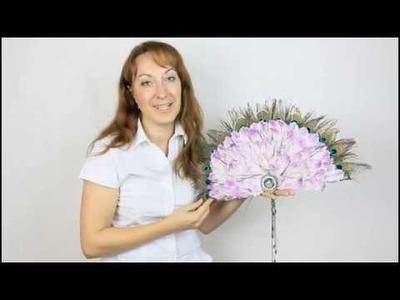 Flower School. Contemporary Bridal Design Fan-shape. Lesson 1