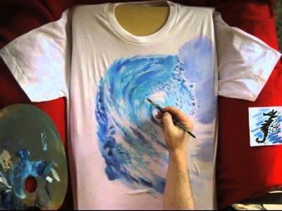 Hand Painted T-shirt n.164 - Stop Motion Painting Animation by Umberto Pigoni