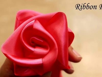 Happiness is. Crafting! DIY Craft Tutorial - 13 : Ribbon rose in just 30 seconds