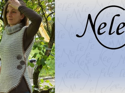 Herbstzeitling a knitted poncho by NeleC.