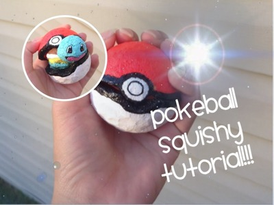 Homemade Pokeball Squishy Container tutorial!!!