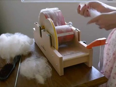 How to card Alpaca fleece on the Baby Brother Drum Carder