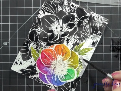 How to Create Rainbow Distress Ink Anemones (Focal & Background)