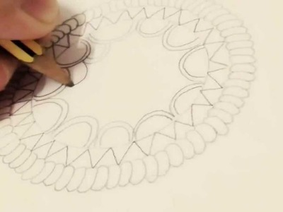 How to draw a dream catcher -beginners