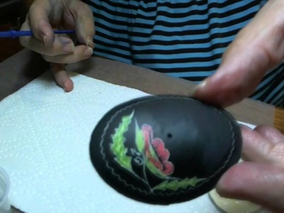 How to Fill Eggshell Backs - Two 2 Part Epoxy, Glitter, & Paint for a Card Holder or Jewelry