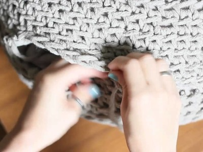 How to finish the pouf