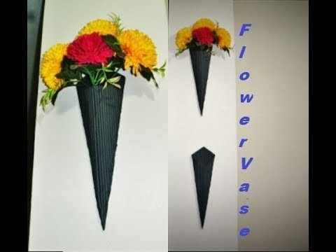 How to Make a Flower Vase - with Paper
