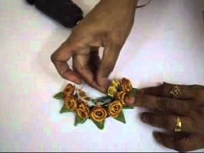 How to make a  Hair clip with tissue roses