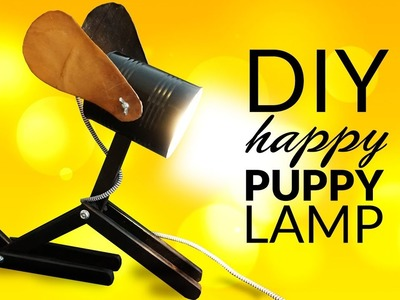 How to Make a Homemade Lamp for kids - happy PUPPY LAMP