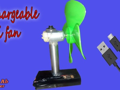 How to make a Mini Electric rechargeable Fan - handfan,usb mini electric rechargeable fan (CAH)