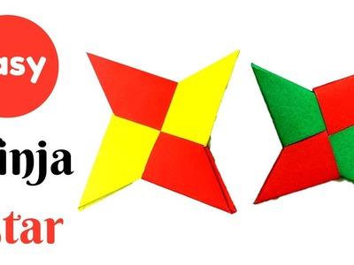 How To Make a Paper Ninja Star - Ninja Star for Beginners | Easy Ninja Star Tutorial DIY Ninja Star