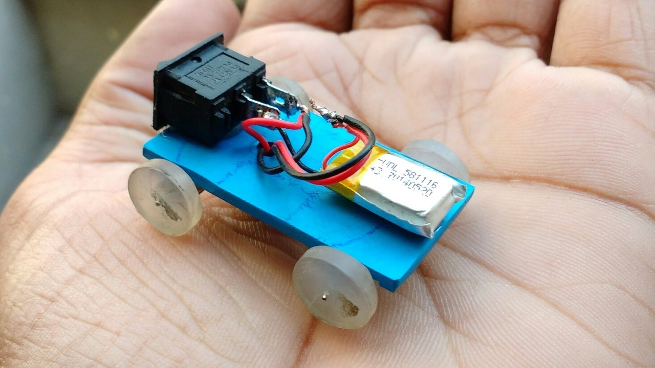 How To Make A Powered Car Very Simple Diy Electric Mini Car