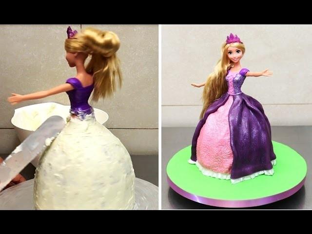 How to make a Rapunzel  Doll Cake   by CakesStepbyStep