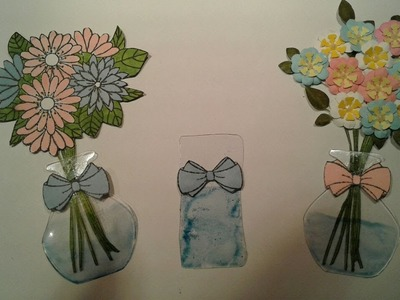 Flower How To Make A Vase Embellishment Using Acetate Upcycle