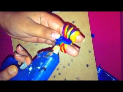 How to make a yarn bow clip