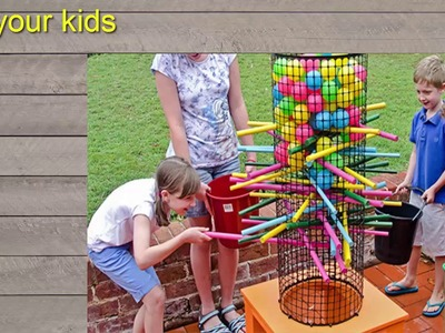 HOW TO MAKE  Backyard Ker Plunk game - DIY │♥ Hgchannel♥