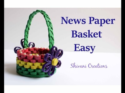 How to make News Paper Basket. Best out of Waste. Easy Paper Basket