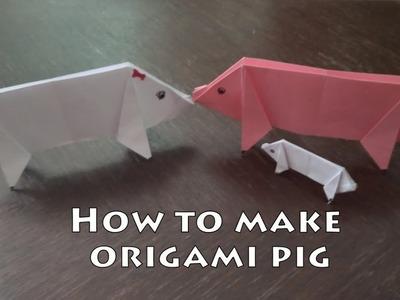 How to make Origami Pig - STEM Kids Activity