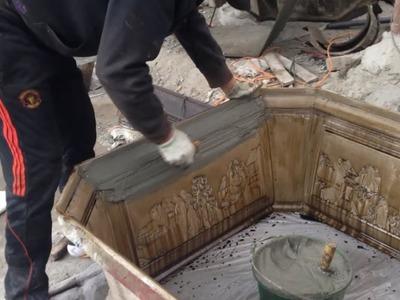 How To Making Large Bonsai Tree Pot - Casting Bonsai Cement Pots