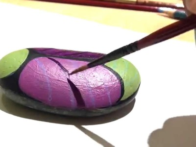 How to Paint a bug on a Rock
