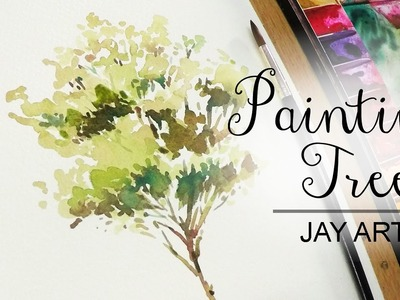 How to paint a tree easy in watercolor