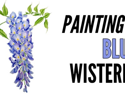 How To Paint A Wisteria With Inktense In Blue