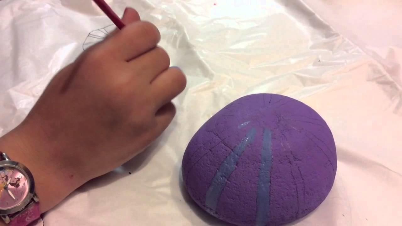 How to paint rocks - Purple Sea Urchin
