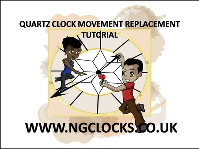 How to replace a quartz clock movement and hands tutorial