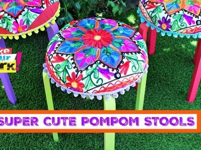 How to: Super Cute Pompom Stools