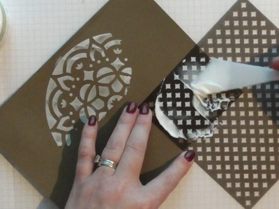 How to use Stampin' Up! masks & Embossing paste