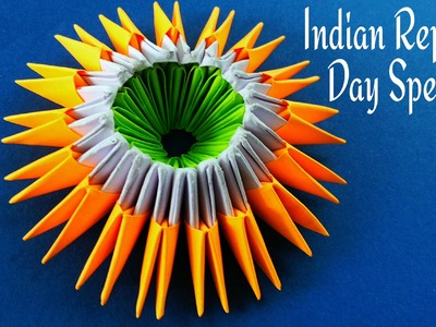 Indian Republic Day Special - Modular Tri Colour Origami Tutorial (400th Video)
