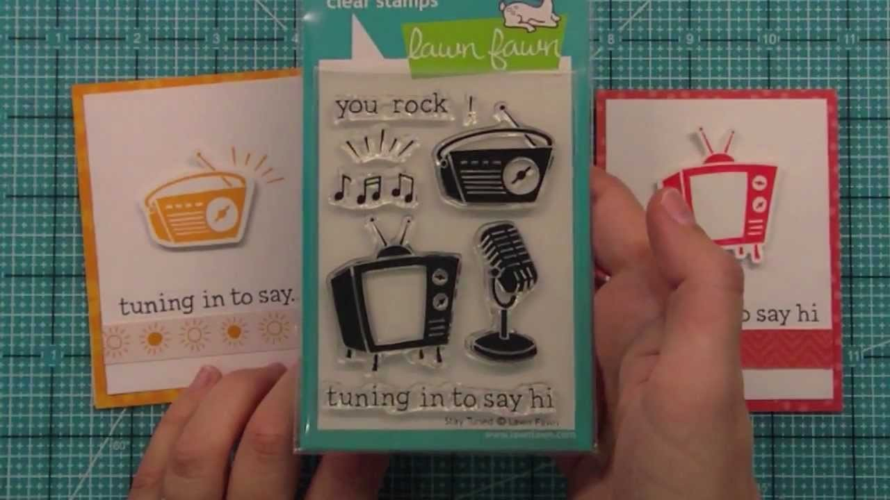 Intro to Stay Tuned + a simple card set from start to finish { Lawn Fawn }