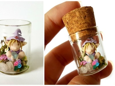 Mini Elf in a Bottle ♥ Polymer Clay Tutorial