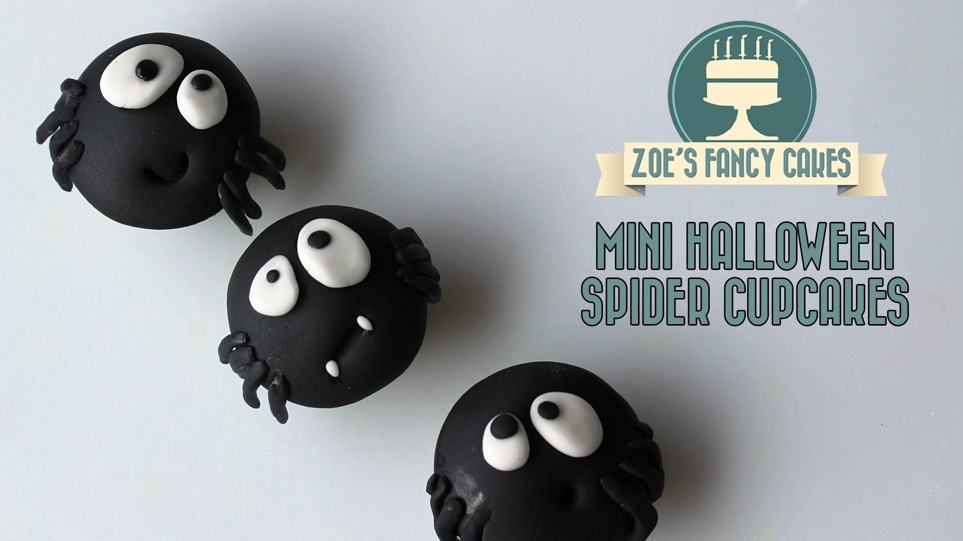 Mini Halloween spider cupcake ideas How To Cake Tutorial