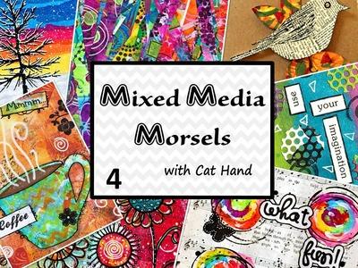 Mixed Media Morsels 4 - Glue Resist Background