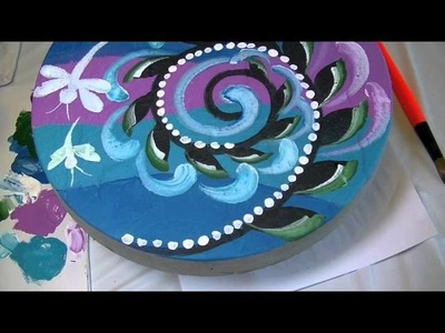 Painting Stepping Stones part 2