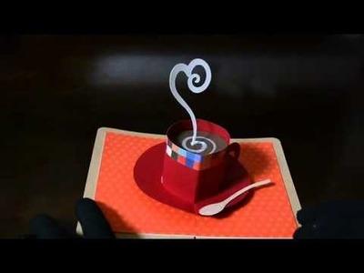 Pop up card 【珈琲カップ】 hot coffee