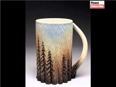 Popular Creative Ceramic Mug Ideas | Lovely Picture Set Of Ceramic Arts & Decoration