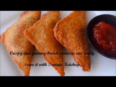 Quick and Simple Bread Samosa. My innovative Recipe | Kids Snack Recipes - By Sritha's Kitchen