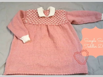 Simply Sweet Toddler Dress Designed By Julia Howe | Bundle In A Basket (Recreation)