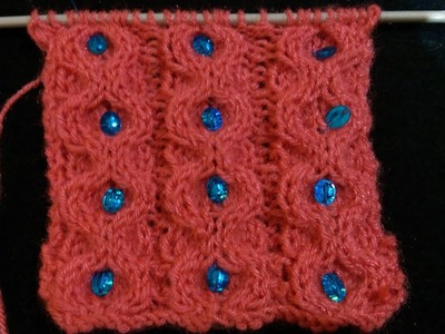 Sweater design for Baby or Gents or Ladies Kardigan ki Bunai | Cable design with stones Part - 1